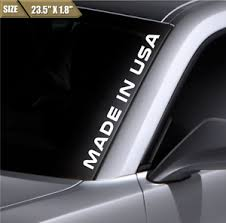 Made In Usa Windshield Sticker Vinyl Window Decal Car Sticker Fits Ford Mustang Ebay