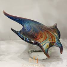 glass art fish sculpture