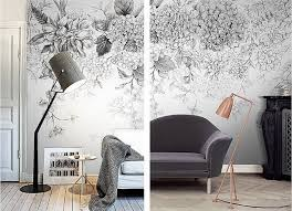Black And White Botanical Wall Art At Home With Ashley Decal Wall Art Wallpaper Interior Design Retro Home Decor