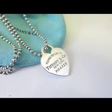 tiffany short chain heart tag necklace