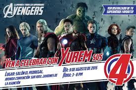 Paola Marissa Invitacion De Cumpleanos Avengers