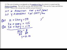 linear systems word problems solving