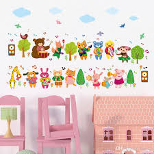 Wholesale Cartoon Animals Music Band Wall Stickers For Kids Boys Girls Room Nursery Diy Home Decor Wallpaper Art Wall Decal Design Wall Decal Designs From Kity12 3 92 Dhgate Com