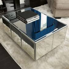 diy mirrored coffee table with a