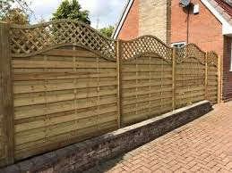 European Style Pressure Treated 1 8m X 1 8m Wave Top Chelsea Fence Panel