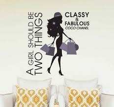Coco Chanel Classy Fabulous Wall Sticker Tenstickers