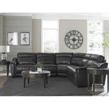 club level sheffield leather sectional