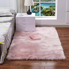 thick plush artificial wool carpet