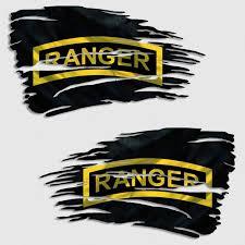Army Ranger Tattered Battle Flag Decal