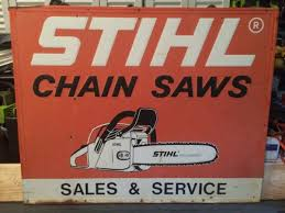 cl ad stihl chainsaw service sign for