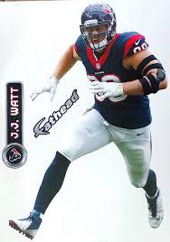 Amazon Com J J Watt Fathead Texans Logo Set Official Nfl Vinyl Wall Graphics 16 Inch Wall Decor Stickers Sports Outdoors