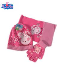 Peppa Pig Peggy George Fall/Winter Knit Gloves Hat Scarf Three-Piece  Children Outing Wear Tide Products Children's Gifts - aliexpress.com -  imall.com