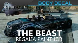 Final Fantasy Xv The Beast Body Decal Location Showcase Youtube