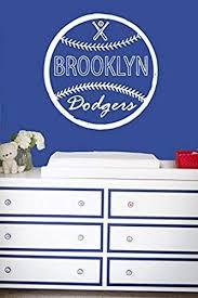Wall Decal Vinyl Sticker Decals Art Decor Design Baseball Brooklin Dodgers Player Kids Room Children Game Sport Bedroom Nursery Gf664