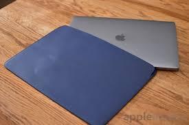 apple s new leather macbook sleeve is