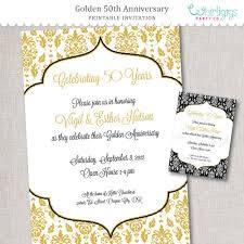 50 Aniversario Invitacion De Oro Aniversario Por Whirligigspartyco