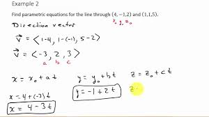 finding parametric equations passing