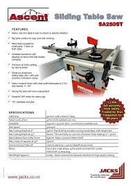 Ascent Sliding Table Saw Jacks