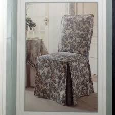 toile black off white armless dining