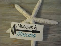 Muscles And Mascara Decal Barbell Decal Make Up Decal Workout Decal Barbell Car Decal Make Up And Barbell Decal Decal Workout Car Decals Adhesive Vinyl How To Make
