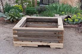 raised garden bed made from recycled