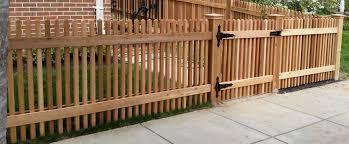 Clear Western Red Cedar With Single Walk Gate And Cedar Pyramid Post Caps Cedar Fence Pickets Cedar Fence Picket Fence