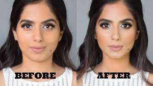 how to slim your face without makeup