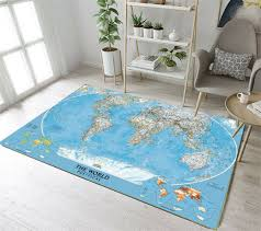 Kid Carpet All Around The World Map Kids Rug For Sale Online Ebay
