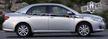 Side Door Vinyl Decal Stripes Kit Graphics Custom For Toyota Corolla 2