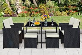 9pc rattan cube furniture set