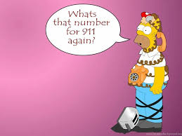 wallpapers funny cartoon homer simpson