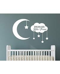 Amazing Deal On Dream Big Little Prince With Moon And Stars Removable Vinyl Wall Art Quotes Decal Sticker