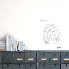 Portrait Of Francoise Wall Sticker P Picasso