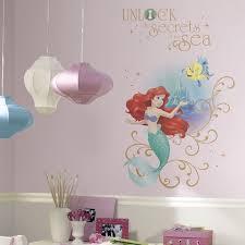 Disney Little Mermaid Secrets Peel And Stick Decal Disney Princess Wall Decals Disney Princess Wall Stickers Mermaid Decal