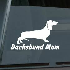 Dachshund Mom Sticker Die Cut Vinyl Wiener Dog Car Decal Size Inch 6 00 X 3 63 Car Stickers Aliexpress