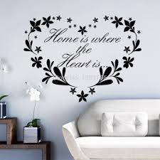 Home Is Where Heart Is Home Decor Creative Quote Wall Decals Flower Heart Removable Vinyl Wall Stickers Wallpaper Wall Art Wall Decals Murals Wall Decals Nursery From Chairdesk 7 68 Dhgate Com