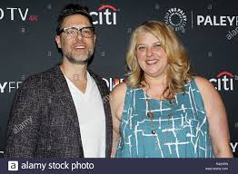 """NEW YORK, NY - OCTOBER 07: Aaron Harberts and Gretchen Berg attend """"Star  Trek: Discovery"""" during the"""