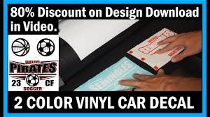 How To Layer And Price A 2 Color Vinyl Car Window Decal Youtube