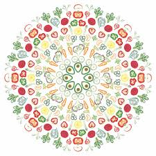 Walloon Salad Mandala Removable Wall Decal Sticker 64 00 Nutrition Education Store