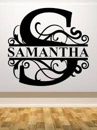 22 Tall Fancy Letter J Personalized W Name Car Wall Vinyl Die Cut Decal 9