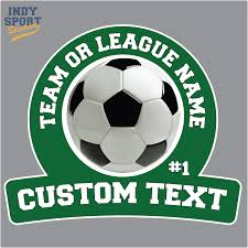 Full Color Sticker With Soccer Ball And Custom Text Car Stickers And Decals