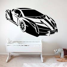 Large Modern Lamborghini Racing Car Wall Sticker Boy Room Kids Room Sports Automobile Vechile Wall Decal Bedroom Vinyl Decor Wall Stickers Aliexpress
