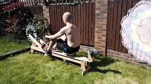 home built diy rowing machine ergo