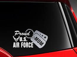 Proud Us Air Force Mom Vinyl Car Decal Sticker 7 5 W Etsy