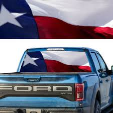 Rear Window Tint Graphic Decal Texas Flag Pick Up Truck Ebay