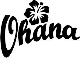 Amazon Com Ohana Wall Decal Is A Vinyl Wall Decal Displaying Ohana Which Means Family And A Hawaiian Flower Black Home Kitchen