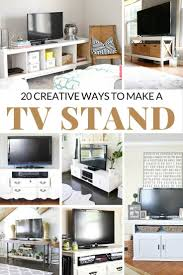 20 Creative Ways To Make A Tv Stand Diy Tv Stands In 2020 Diy Tv Stand Make A Tv Stand Diy Tv