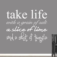 Shop Take Life With A Grain Of Salt Wall Decal 60 X 48 Inches Overstock 12358214