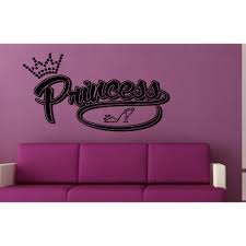 Shop Princess Crown Girls And Shoes Wall Art Sticker Decal Overstock 11605747