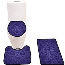 bathroom rug set purple blue royal